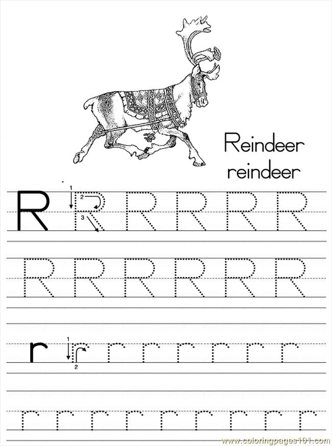 Alphabet Abc Letter R Reindeer Coloring Pages 7 Com Coloring Page