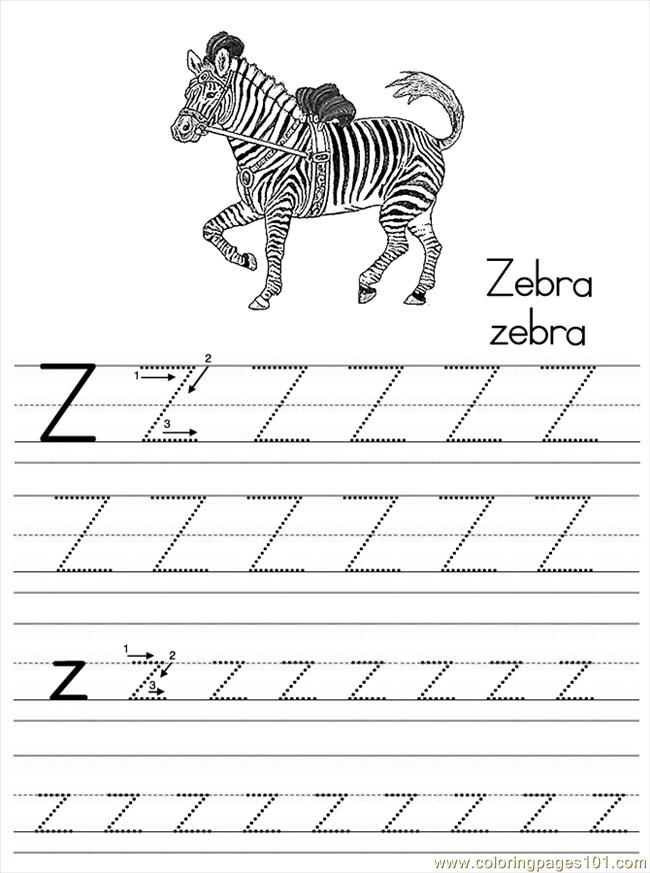 Alphabet Abc Letter Z Zebra Coloring Pages 7 Com Coloring Page ...