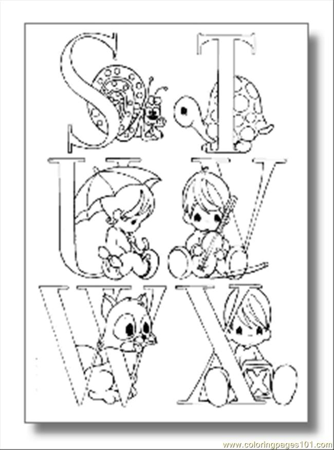 Alphabet Coloring Pages04 Coloring Page