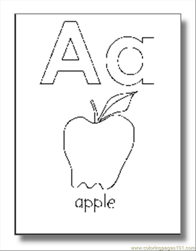alphabet coloring pages download - photo#12