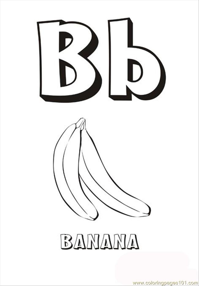 Letter B Printable Coloring Pages  Coloring Pages For Kids and