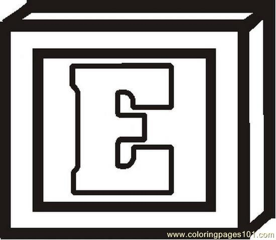 Blockletterebw Coloring Page Free Alphabets Coloring