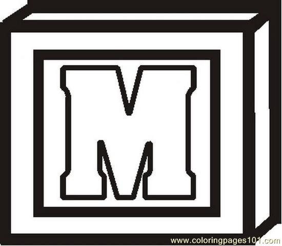 Blocklettermbw Coloring Page
