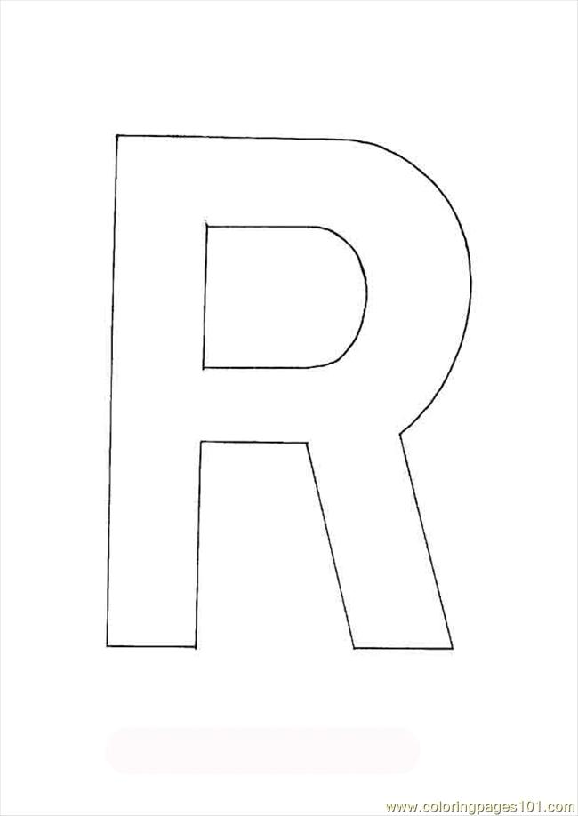 r letter coloring pages - photo #49