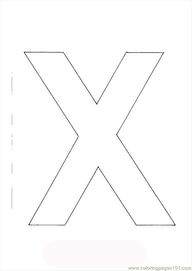 Coloring Alphabet Upper X Coloring Page