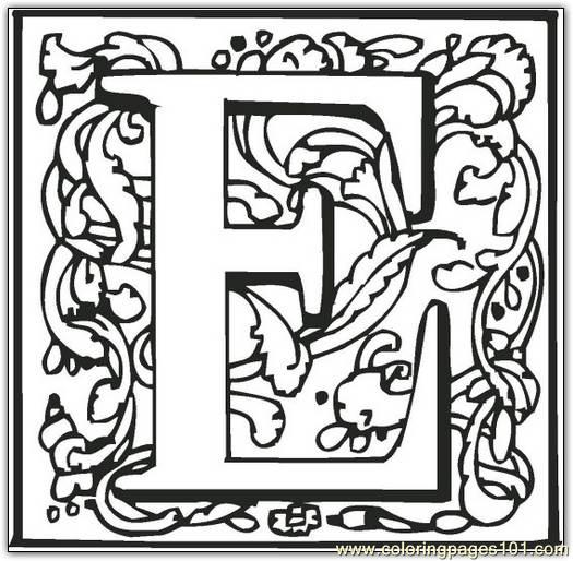 e coloring page free alphabets coloring pages
