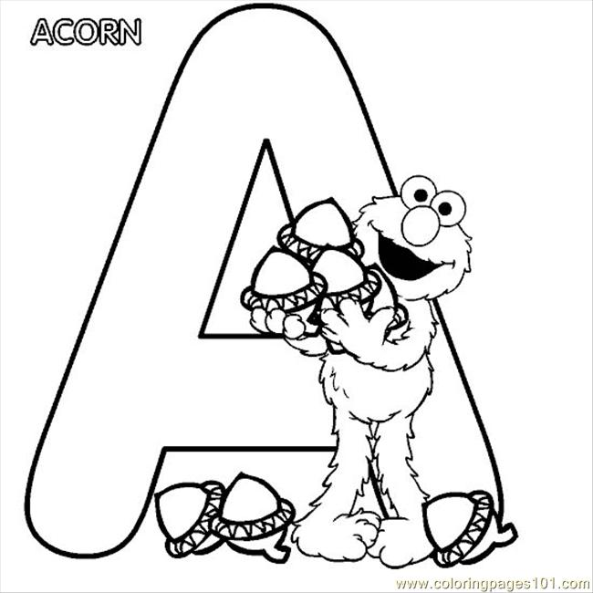 Elmo Alphabet A Coloring Page Coloring Page