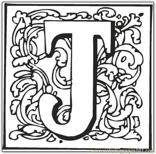 J Coloring Page Free Alphabets Coloring Pages ColoringPages101com