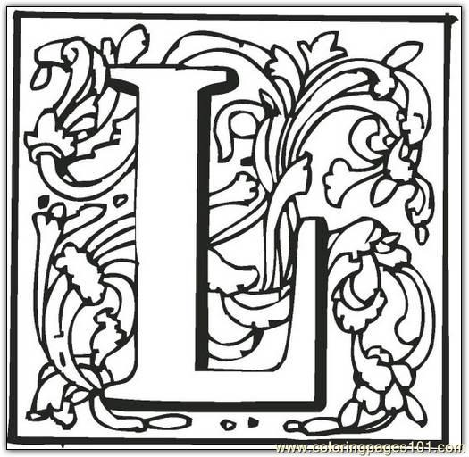 L Coloring Page - Free Alphabets Coloring Pages : ColoringPages101.com