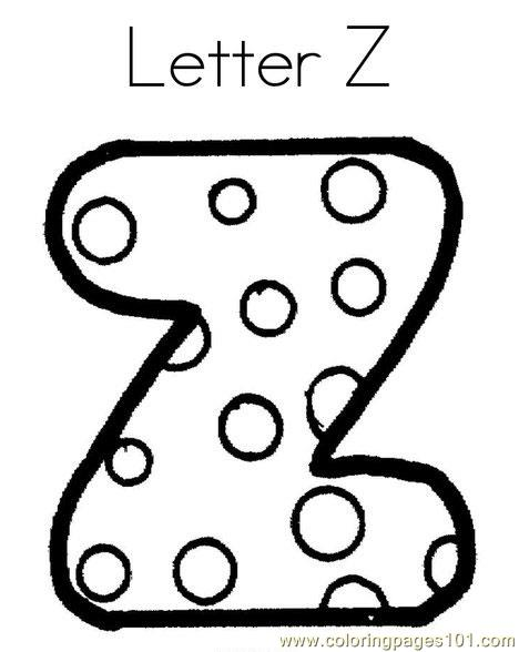 Z Coloring Page