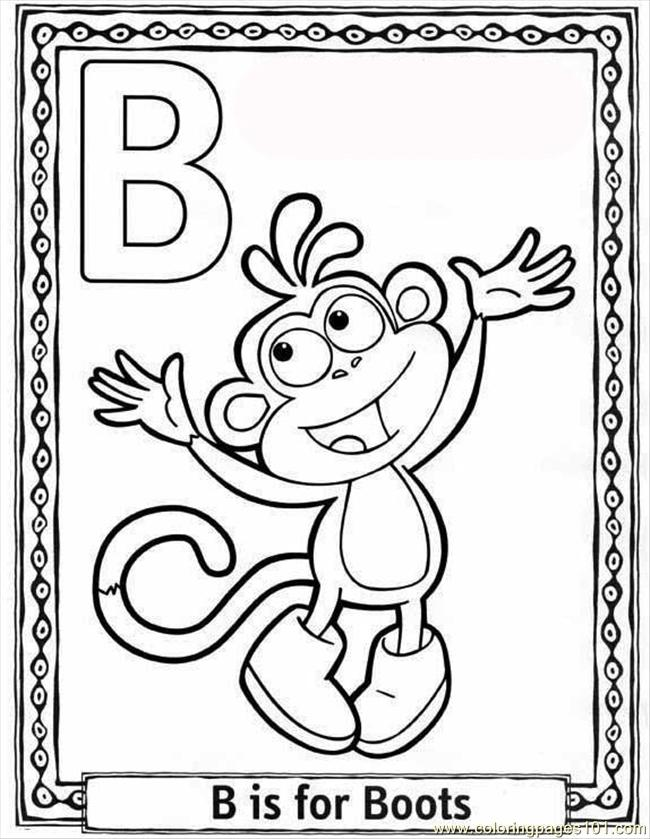 Oon Alphabet Coloring Pages B Coloring Page - Free ...