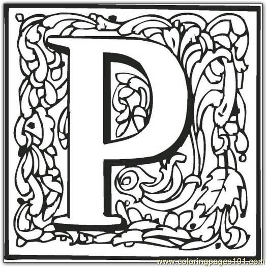 P Coloring Page Free Alphabets Coloring Pages