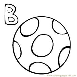 Ball Free Coloring Page for Kids