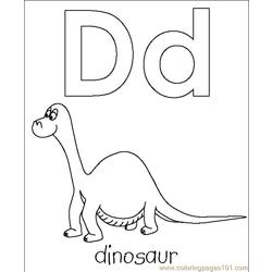 Dinosour coloring page