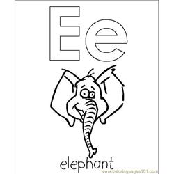 Elephant haed coloring page