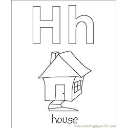 House coloring page