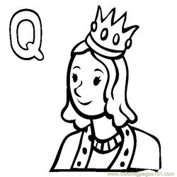 Queen Free Coloring Page for Kids