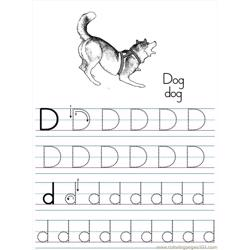 Alphabet Abc Letter D Dog Coloring Pages 7 Com
