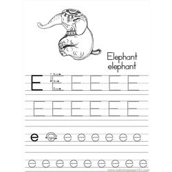 Alphabet Abc Letter E Elephant Coloring Pages 7 Com