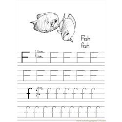 Alphabet Abc Letter F Fish Coloring Pages 7 Com