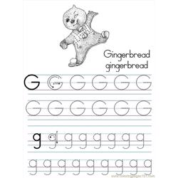 Alphabet Abc Letter G Gingerbread Coloring Pages 7 Com