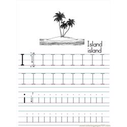 Alphabet Abc Letter I Island Coloring Pages 7 Com