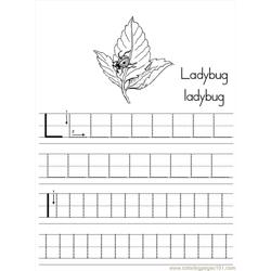 Alphabet Abc Letter L Ladybug Coloring Pages 7 Com