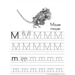 Alphabet Abc Letter M Mouse Coloring Pages 7 Com
