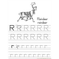 Alphabet Abc Letter R Reindeer Coloring Pages 7 Com