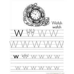 Alphabet Abc Letter W Watch Coloring Pages 7 Com