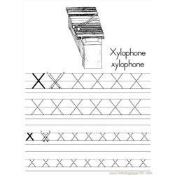 Alphabet Abc Letter X Xylophone Coloring Pages 7 Com