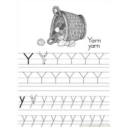 Alphabet Abc Letter Y Yarn Coloring Pages 7 Com