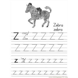Alphabet Abc Letter Z Zebra Coloring Pages 7 Com