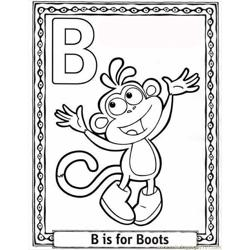 Oon Alphabet Coloring Pages B