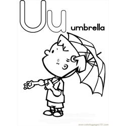 Tter U Coloring Page Umbrella