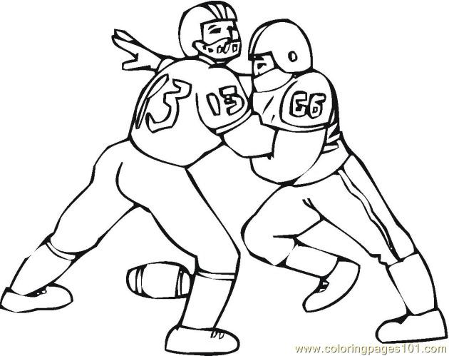 American Football 2 Coloring Pages 7 Com Page