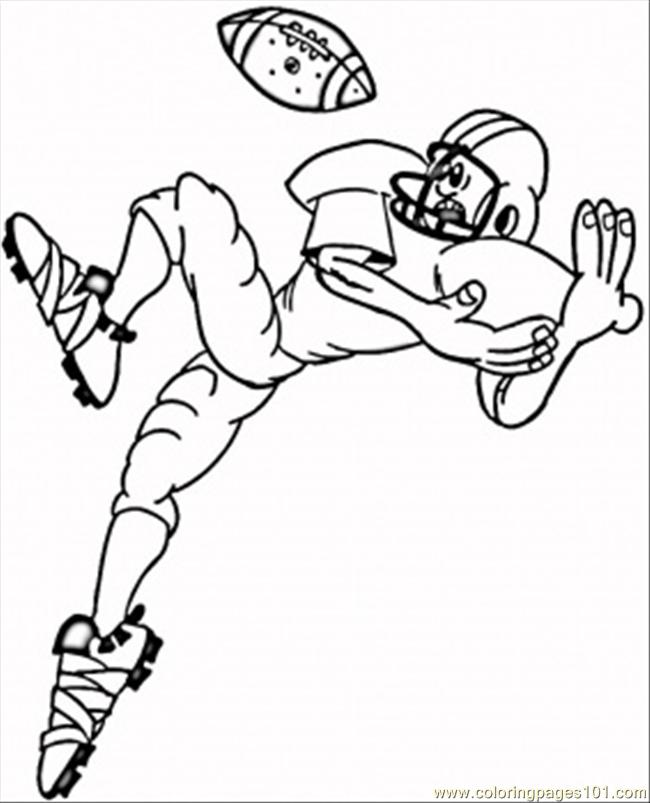 Catching The Ball Coloring Page
