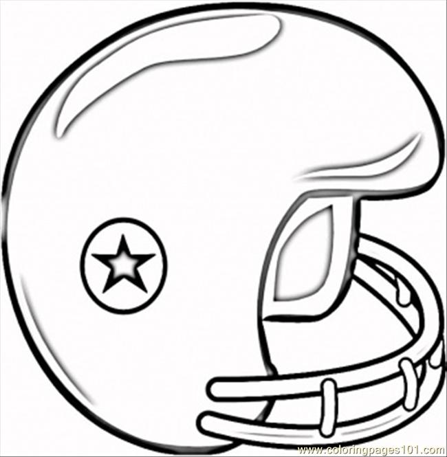 Football Helmet Coloring Page