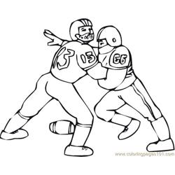 American Football 2 Coloring Pages 7 Com coloring page