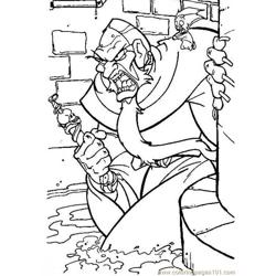 Anger Men Free Coloring Page for Kids