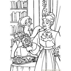 Anastasia Free Coloring Page for Kids