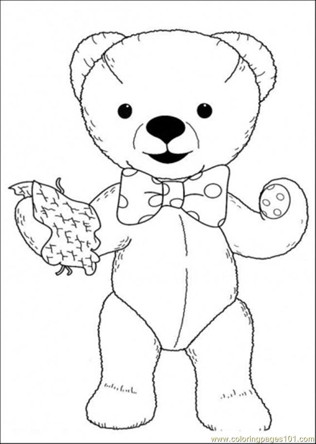 andy holds a napkin coloring page