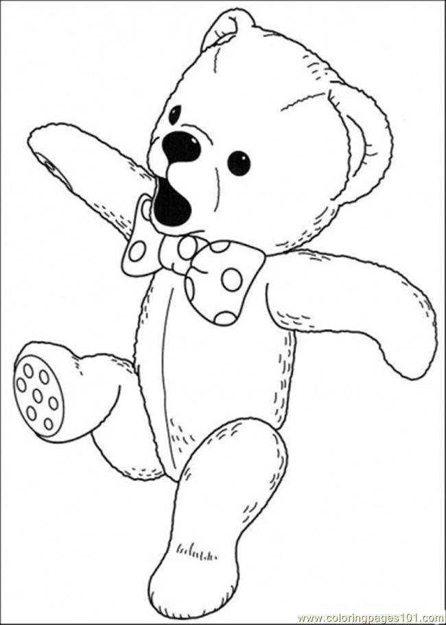 Bear Sings A Song Coloring Page
