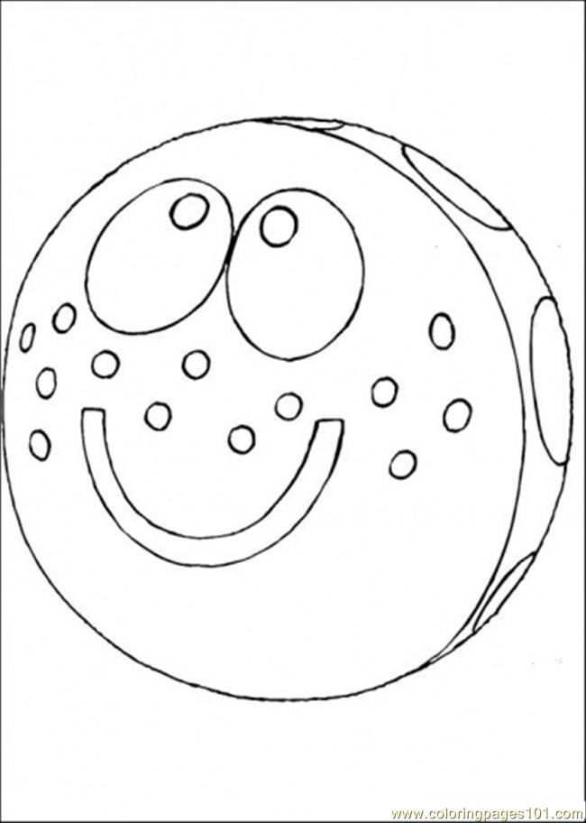 Funny Ball Coloring Page