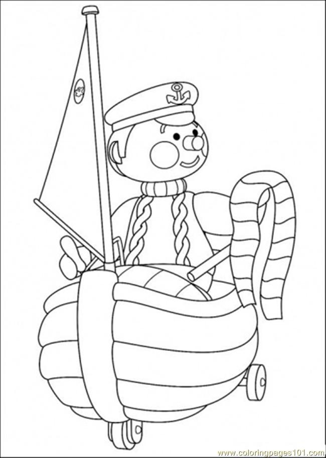 Police Is Riding His Vehicle Coloring Page