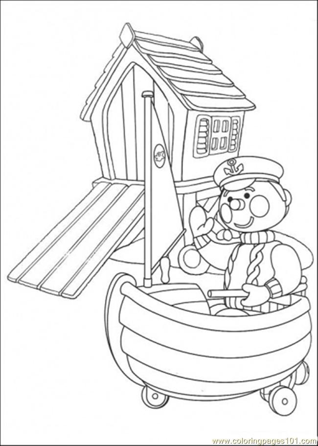 Police On Boat Coloring Page