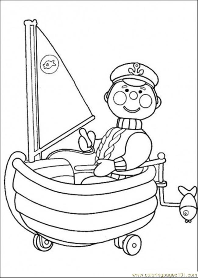 Police On The Boat Coloring Page