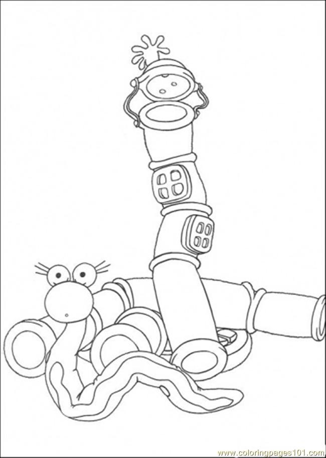 Snake And Its House Coloring Page