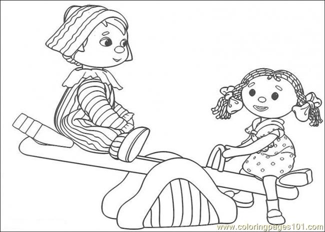 That Boy And Girl Are Playing Together Coloring Page