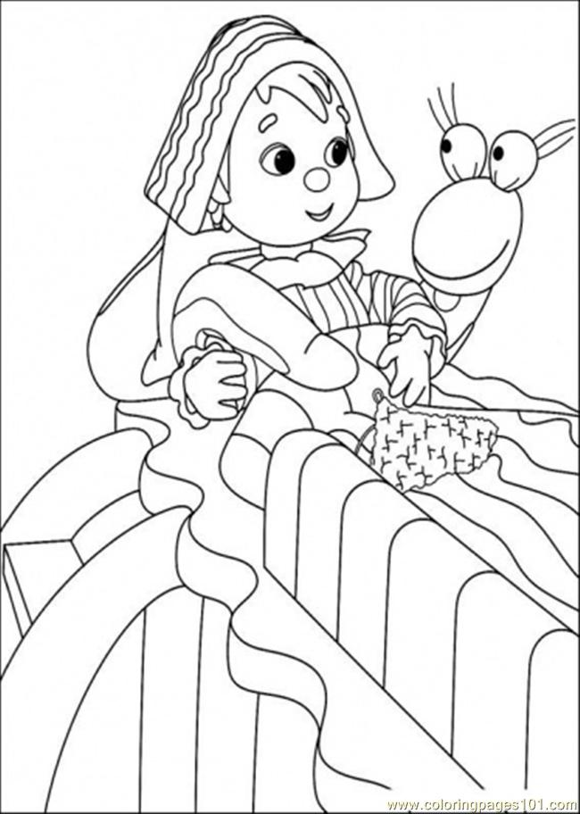 That Boy Is Talking With The Snake Coloring Page